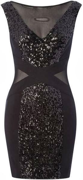 Sequin Cross Detail Dress