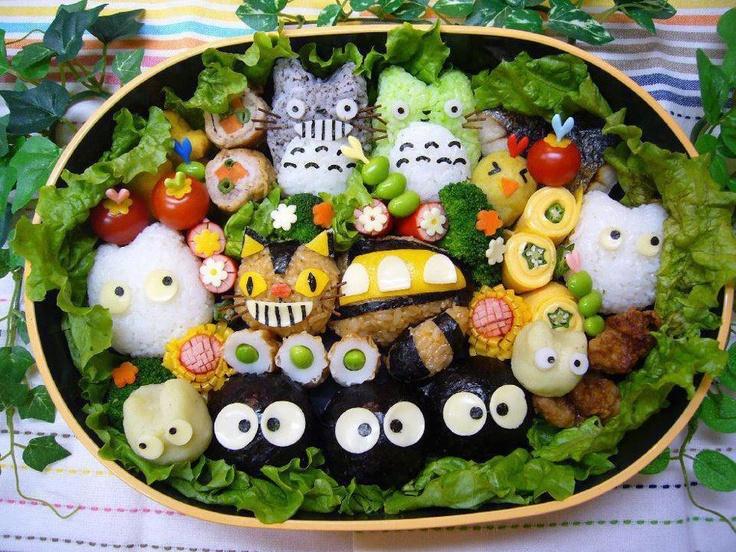 kawaii!: Kawaii, Japan, Friends, Lunches Boxes, Totoro Bento, Foodart, Food Art, Studios Ghibli, Animal