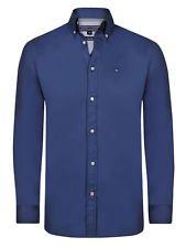 TOMMY HILFIGER HERREN HEMD SUPER POLO SHIRT Sporthemd Blau GR. S M L XL 2XL