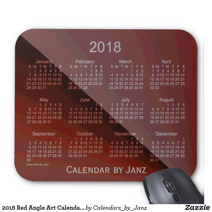 2018 Red Angle Art Calendar by Janz Mouse Pad