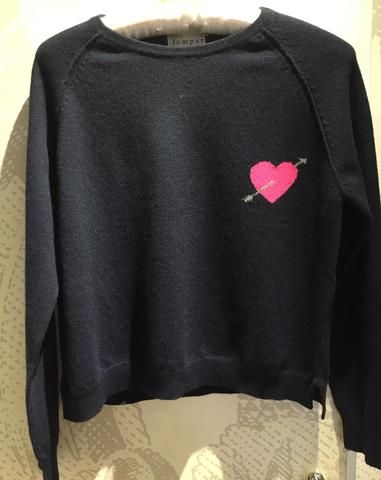 Jumper 1234 cashmere Navy jumper with heart