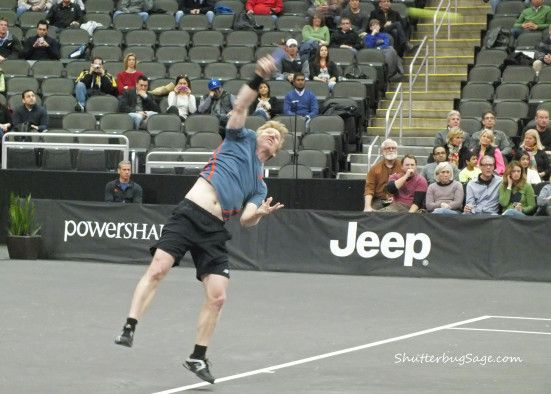 Jim Courier in the 2014 Powershares Series.  Kansas City, Missouri.