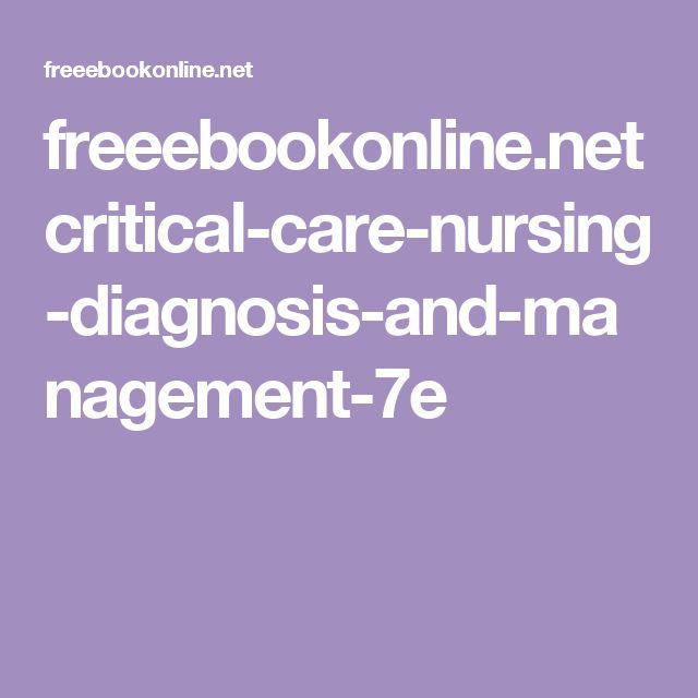 critical care nursing pdf free