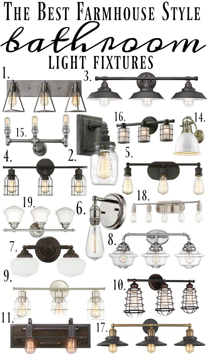 Farmhouse Style Bathroom Light Fixtures |