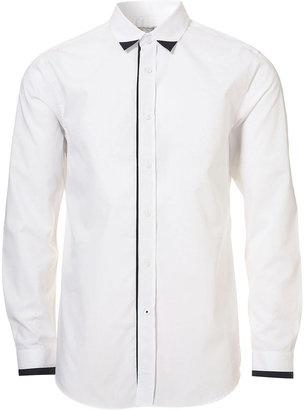 ShopStyle: White Collar Tip Smart Shirt