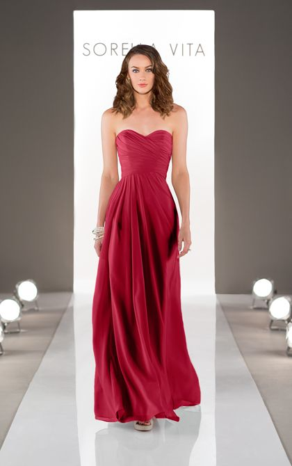 Wedding Dresses | Floor Length Bridesmaid Gown | Sorella Vita Comes in many colors like spice and espresso.
