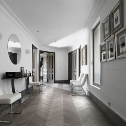 The latest in wod flooring trends... You'll be Floored. Just Decorate! Blog chevron wood flooring in hallway