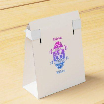 #19  Year traditional bronze  wedding anniversary Favor Box - #WeddingFavorBoxes #Wedding #Favor #Boxes Wedding Favor Boxes #Favorbox