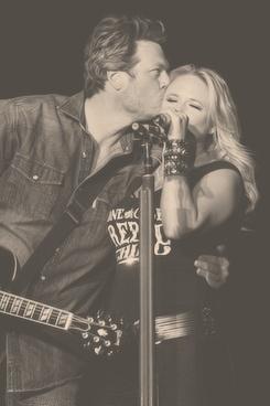 Blake Shelton & Miranda Lambert...love watching them:)-D