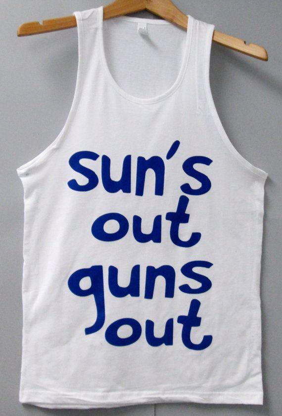 Men's Jersey Tank Top Sun's Out Guns Out