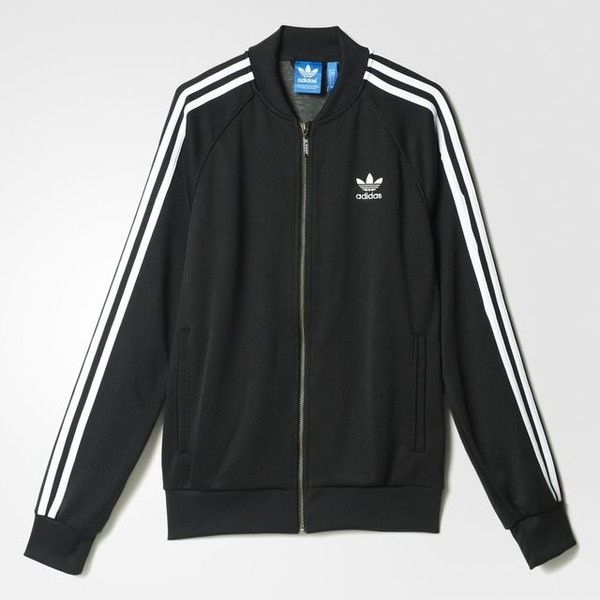 adidas Superstar Track Jacket ($70) ❤ liked on Polyvore featuring activewear, activewear jackets, adidas activewear, track jacket, adidas and adidas sportswear