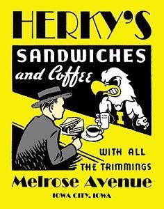 Iowa Hawkeyes Herky | Iowa-Hawkeye-Basketball-Football-Wrestling-Poster-Art-Herky-Diner ...