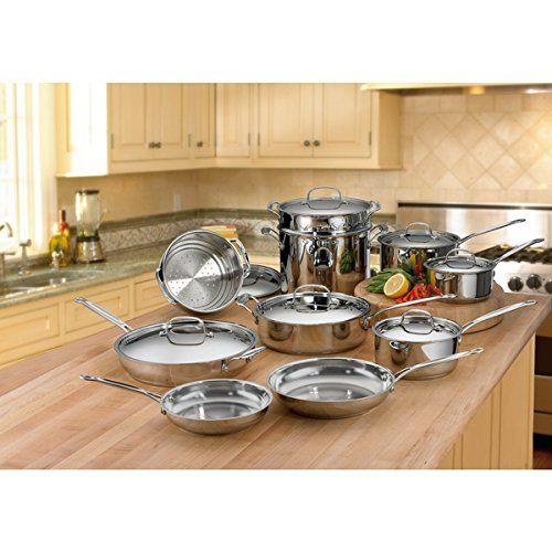 LOOK!  Cuisinart Saute Pan Metal Stainless Steel Mirror