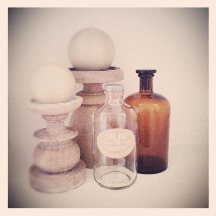 small treasures - an original vintage amber pharmacy bottle. Love it!