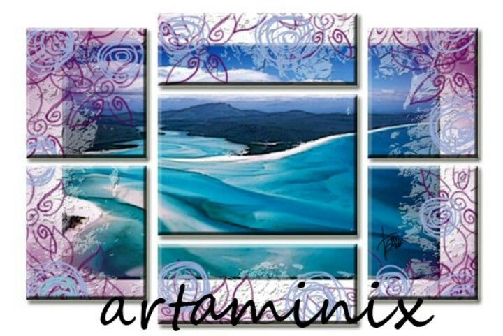 Bora bora #landscapes #sea #mare #blue #art #paint #handmade
