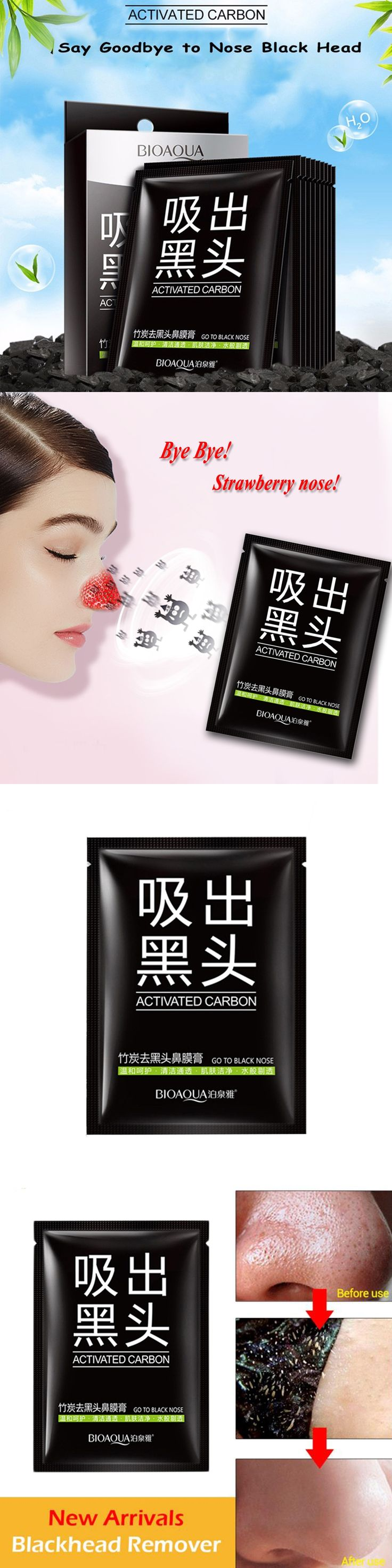 Face Minerals Conk Nose Blackhead Remover Mask Pore Cleanser , Black Head EX Pore Strip Black Mask Face Mask 8g