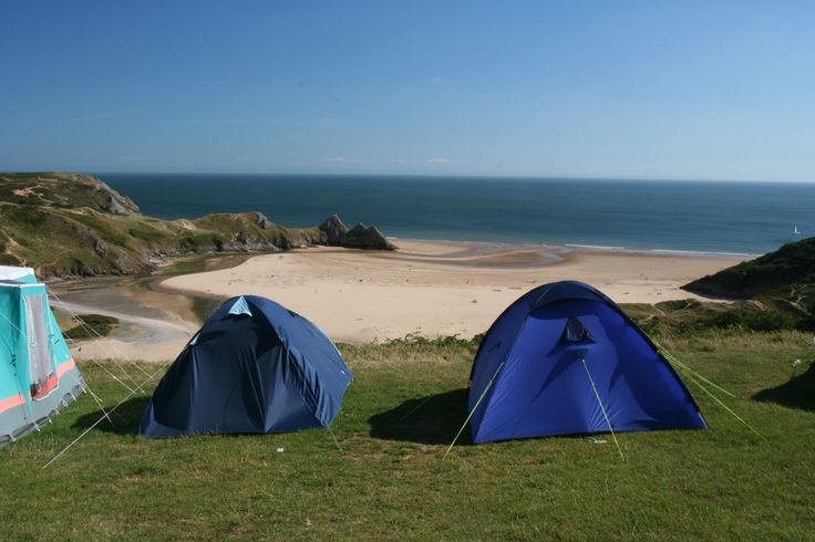 Three cliffs bay caravan park large