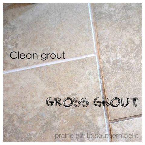 DIY Grout Cleaner 1/4 cup white vinegar, warm 2 tsp cream of tartar