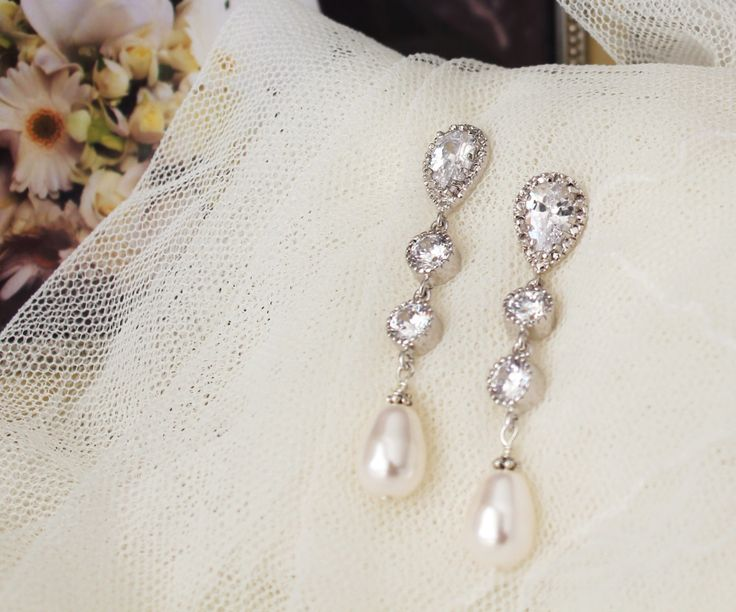 281 best Pearl Jewelry images on Pinterest Pearl jewelry Bridal