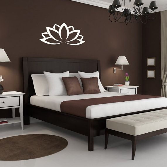 wall vinyl decal lotus flower art design murals interior. Black Bedroom Furniture Sets. Home Design Ideas