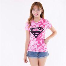 016 de Compresión Camisa Superman Capitán América Punisher Camiseta Superhéroe Iron man 3D Druck Crossfit Estilo de La Moda de Las Mujeres Tops(China (Mainland))