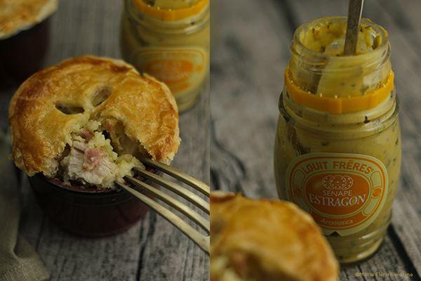 Pie di pollo e speck con senape all'Estragone.
