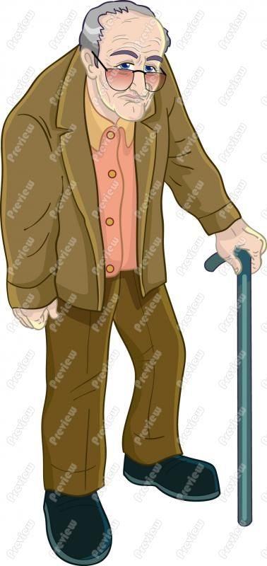 Old Man With Cane Clip Art.jpg (378×800) | SENIOR MOMENTS ...