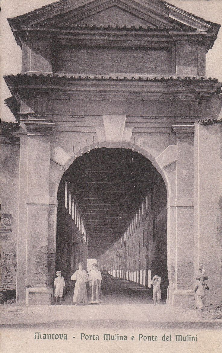 porta mulina ingresso al ponte dei mulini 1909