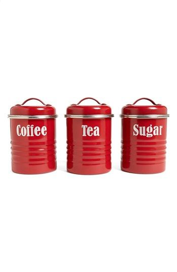 Typhoon 'Vintage Kitchen' Enameled Tea, Coffee & Sugar Storage Canisters (Set of 3) available at #Nordstrom