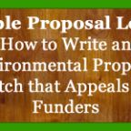 sample environmental proposal letter