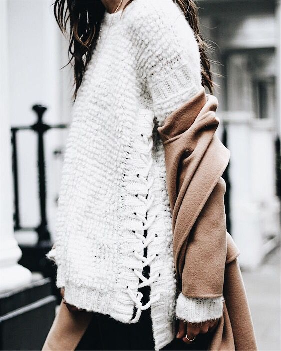 Love this lace up sweater