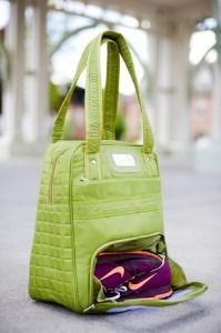Stylish tote to carry your workout apparel!