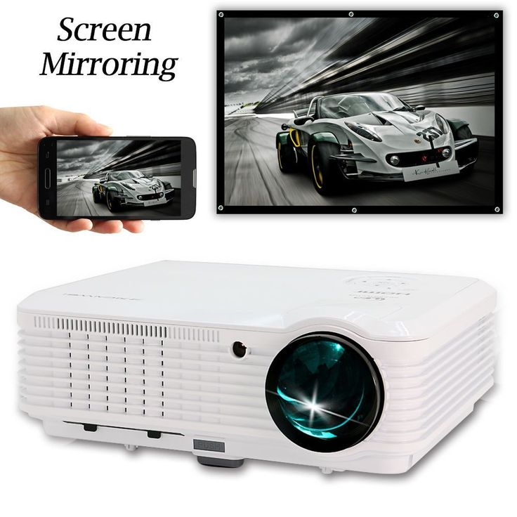 CAIWEI Screen Mirroring Projector 1080P LED Home Theatre Smartphone Dightal TV Movie Projection Full HD WIFI Beamer HDMI USB AV #Affiliate #hometheatreprojectors