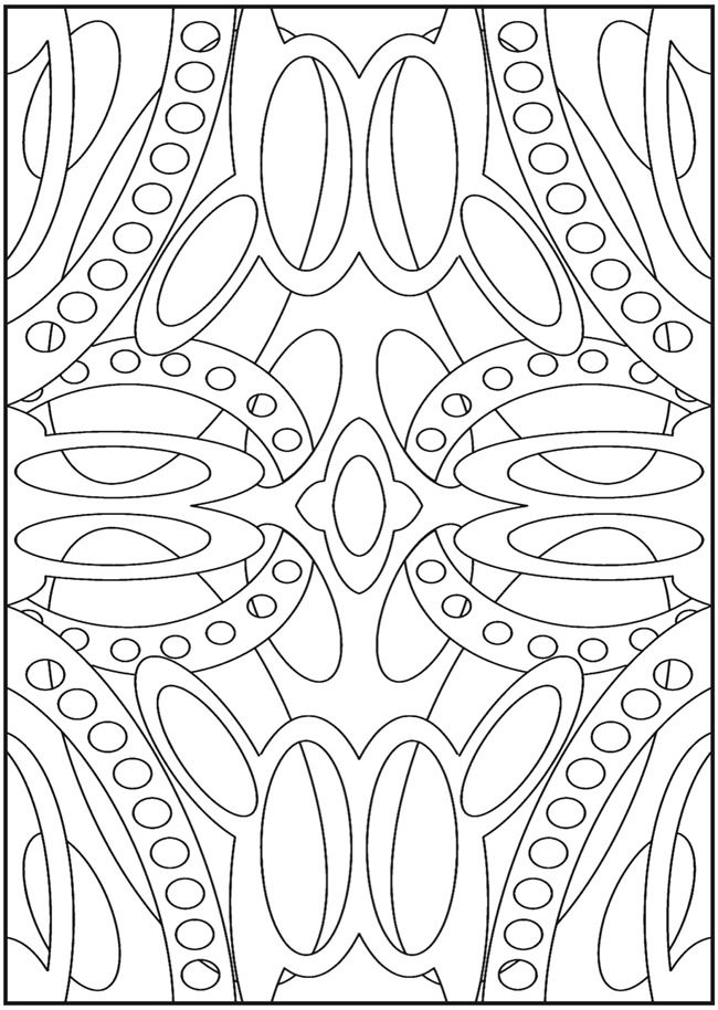 colouring in page sample from stained glass book via dover publications - Coloring Pages Abstract Designs