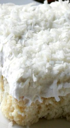 Mom's Best Ever Coconut Cake obviously I will lose weight eating this. Looks so good!