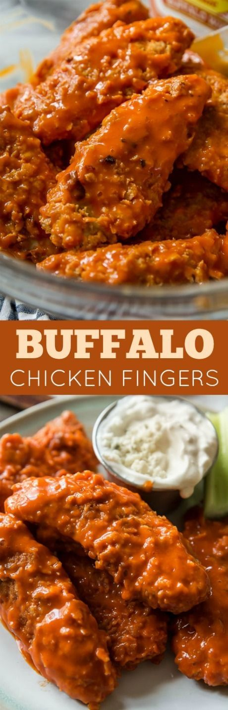 How to make delicious, quick, and satisfying crispy baked buffalo chicken fingers using easy pantry ingredients! Recipe on sallysbakingaddiction.com