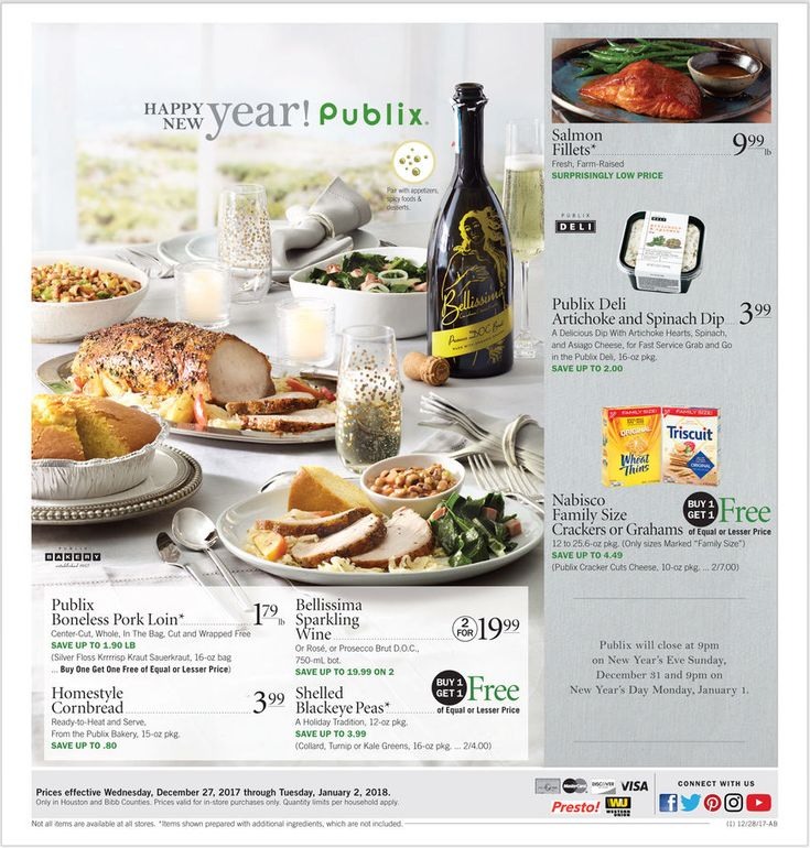 View Latest Publix Weekly ad December 27 – January 2, 2018 Flyers Here. Browse Weekly BOGOs (Buy Ones Get Ones), Extra Savings, Digital Coupons, Printable Coupons, Coupon Savings Helper, Publix Brands on Sale and the latest promotions from Publix.          (adsbygoogle = window.adsbygoogle |...