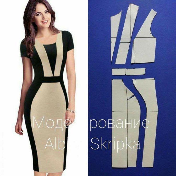 Two colour block dress