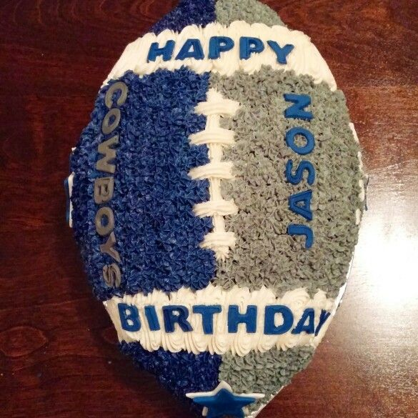 Dallas Cowboys Football Cake                                                                                                                                                                                 More