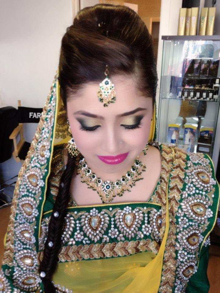 Mehendi Night! #makeup, #hair & #styling by me www.farhana.co.uk #bridal #wedding #FarhanaHennaMUA