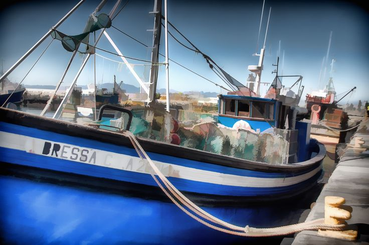 A boat docked in Kalk Bay harbour - Cape Town - South Africa #boat #painting #pastel #southafrica #sea #harbour #harbor #beautiful #amazing #photos #photography #pictures #artwork #paintings