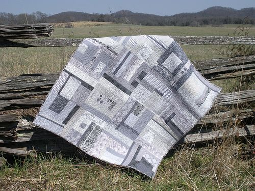 January quilt | Winter skies inspired my monochromatic quilt… | Flickr