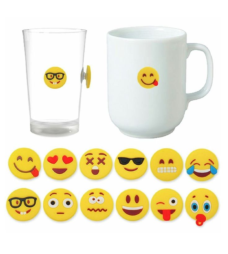 Emoji Wine Charms for Glasses, Universal Drink Markers with Suction Cup, 12 Pack | Home & Garden, Kitchen, Dining & Bar, Bar Tools & Accessories | eBay!
