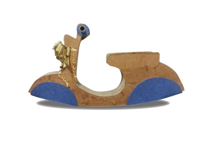Vespa 50 special cardboard rocking vespa! OOAK - made in Italy 100% recycled