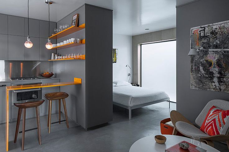 Tiny 330 square feet apartment designed in 2014 by Vertebrae Architecture located in Venice, California, United States.   HomeAdore