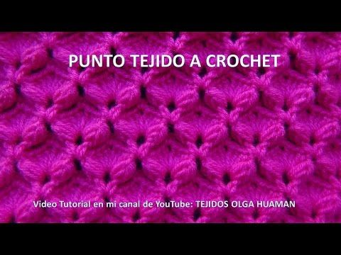 Punto tejido a crochet para bufandas y cobijas para bebe - YouTube