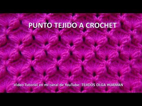 bufanda o chalina tejido a crochet en punto espuma de mar paso a paso - YouTube