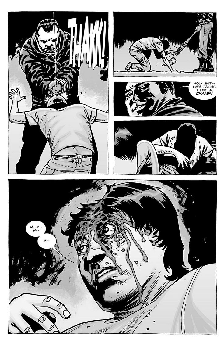 In the comics, Glenn was killed by Negan in issue #100. Description from vixenvarsity.com. I searched for this on bing.com/images