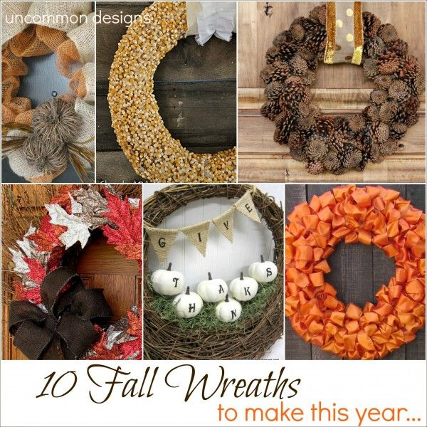 10 Fall Wreaths to make this year...