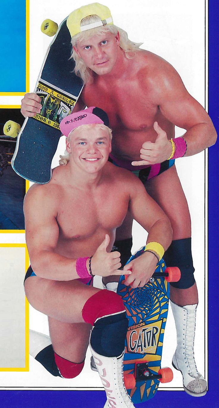 Totally rad wrestling duo The Dynamic Dudes (1989) http://ift.tt/2xNS3Gb